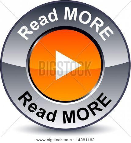 Lesen Sie mehr Runde metallische Knopf. Vektor.