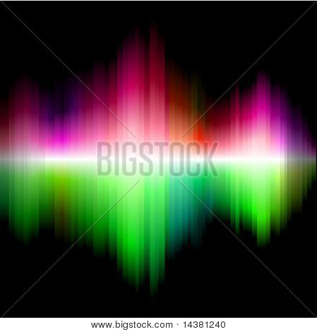 Spectrum rainbow wallpaper. No mesh. No transparency.