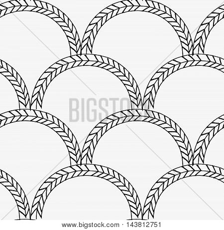Black Marker Braids In Arcs