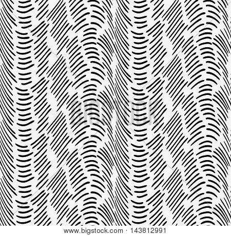Black Marker Horizontal Dashed Waves
