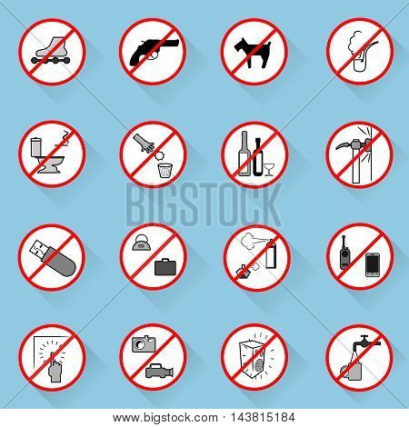 Collection of editable characters prescription.Vector illustration. Signs of alerts.