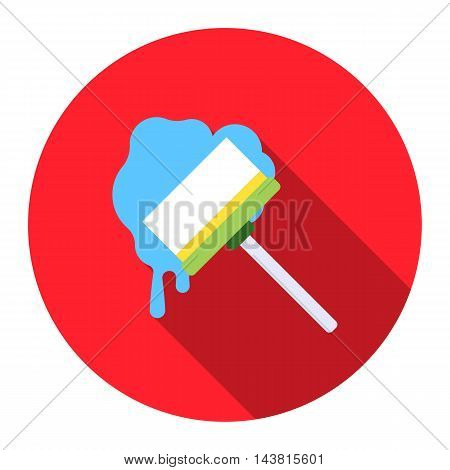 Squeegee flat icon. Illustration for web and mobile.