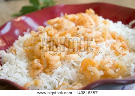 basmati risotto with prawn tails and butter