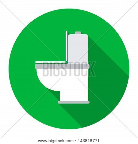 WC toilet icon of vector illustration for web and mobile design