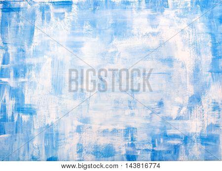 Blue old vintage grunge Christmas background texture.