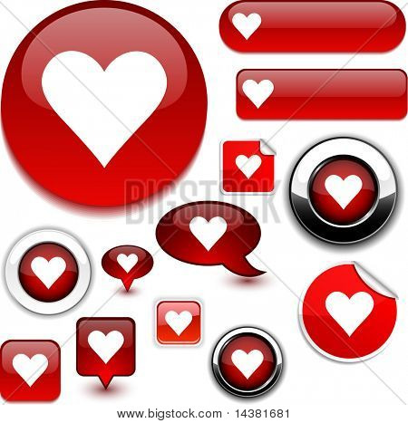 Love vector icons brillantes.