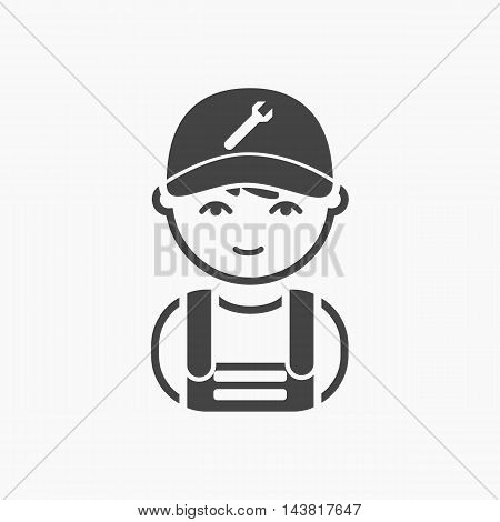 Mechanic black icon. Illustration for web and mobile.