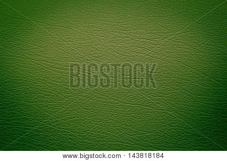 Close up Green leather and texture background