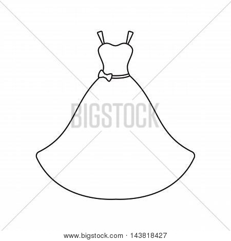 Wedding Dress icon of vector illustration for web and mobile design