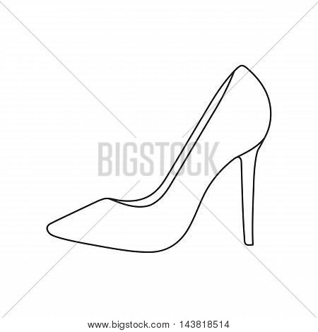 Bride's shoes icon of vector illustration for web and mobile design