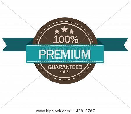 Premium stamp design isolated on white background