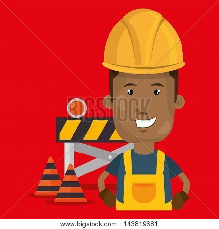 under construction worker vector illustration design eps 10