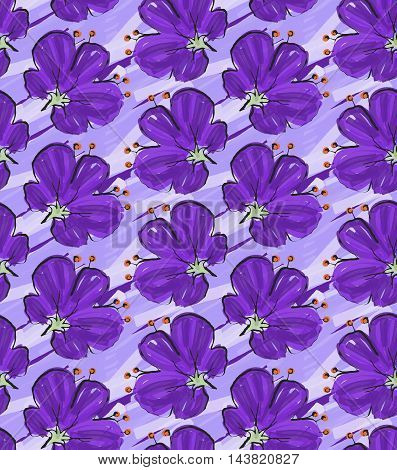 Big Purple Flower On Purple Brushed Background