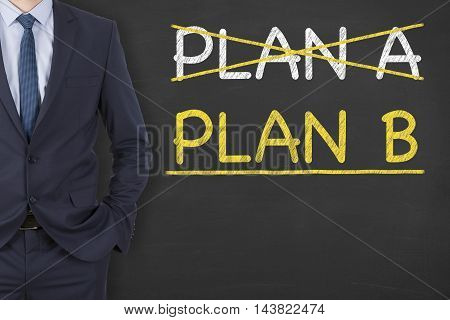 Plan A or Plan B on Chalkboard