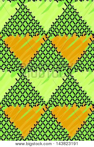 Inked Triangles Checkered