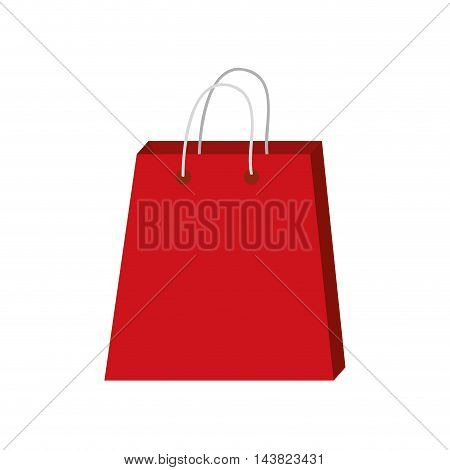 shopping bag market store commerce icon. Flat and isolated design. Vector illustration
