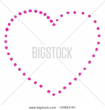 Pink isolated dot heart Saint Valentine's Day