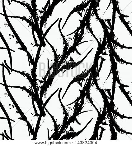 Kelp Seaweed Black Abstract Rough