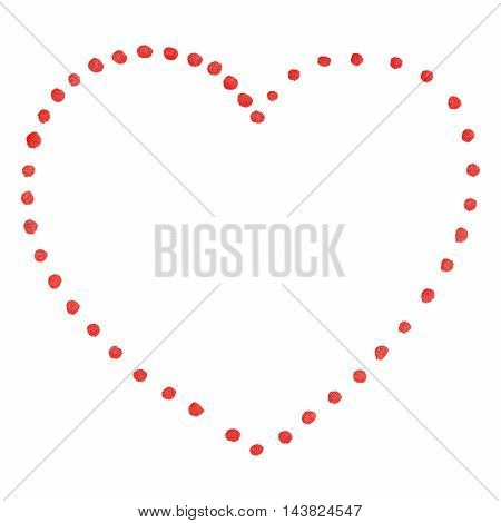 Red isolated dot heart Saint Valentine's Day
