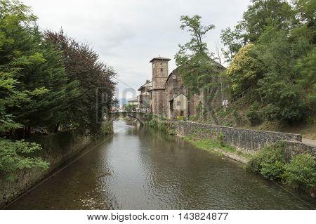 River and bridge Saint Jean Pied de Port