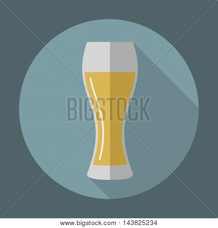 Beer glassware vector icon in flat style