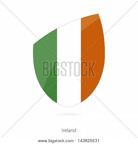 Flag Of Ireland In The Style Of Rugby Icon.