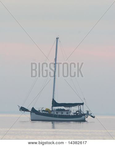Classic Traditional Cutter Rigged Sailboat