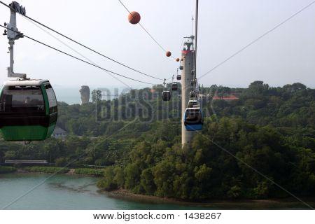 Sky Tram To Sentosa Island