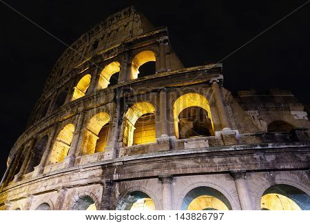 Colosseum Night View, Rome.