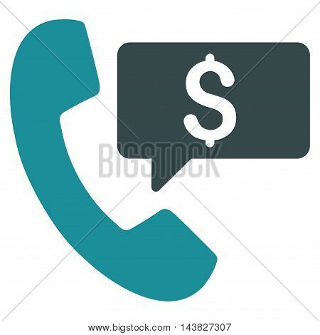 Phone Order icon. Vector style is bicolor flat iconic symbol with rounded angles, soft blue colors, white background.