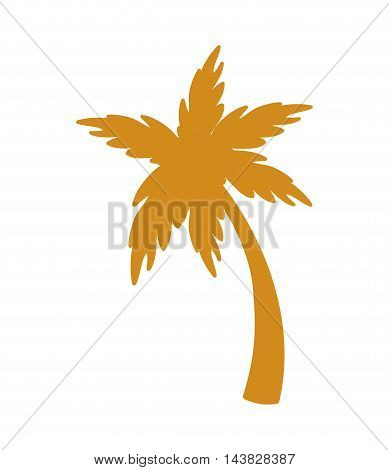 palm tree plant nature summer icon. Flat and isolated design. Vector illustration