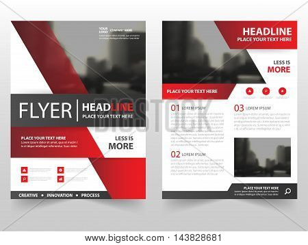 Red black vector Brochure Leaflet Flyer template design book cover layout design abstract business presentation template a4 size design