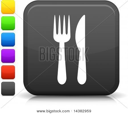Knife & Fork Original vector icon. Six color options included.
