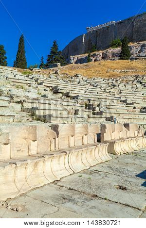 Theater of Dionysos in Acropolis Athens Greece