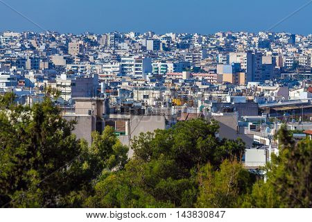 Aerial View On Athens From Acropolis
