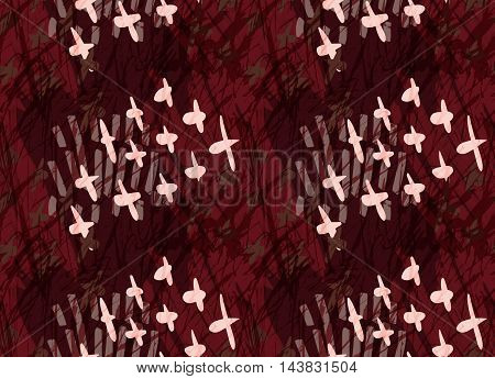 Marker Hatched Deep Red With Crosses