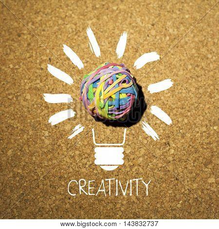 Creativity creative ideas concept with light bulb
