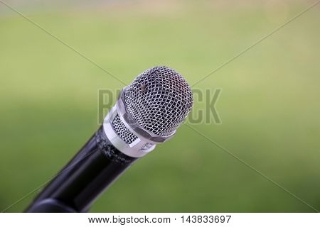 microphone with a house fly sitting on it