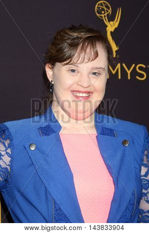 LOS ANGELES - AUG 22:  Jamie Brewer at the Television Academy's Performers Peer Group Celebration at the Montage Hotel on August 22, 2016 in Beverly Hills, CA