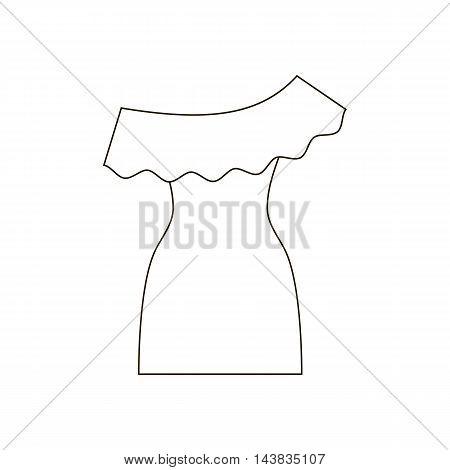 Dress illustration path on the white background. Vector illustration