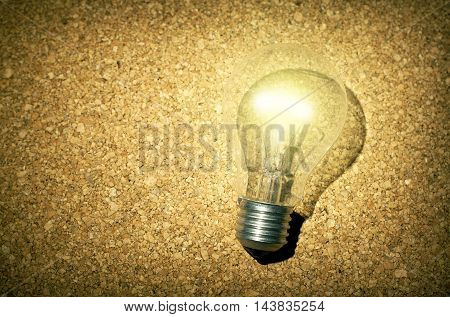 Creative ideas business solutions energy power concept with light bulb