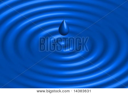 Original Vector Illustration: realistic water ripple blue background AI8 compatible