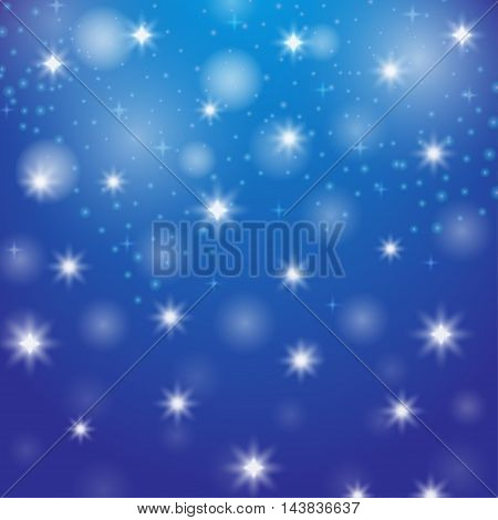 Abstract element star. Decorative illustration with snow. Bright image bokeh. Christmas object. New Year ornament. Festive creative pattern. Simple graphic ornament. Vector.
