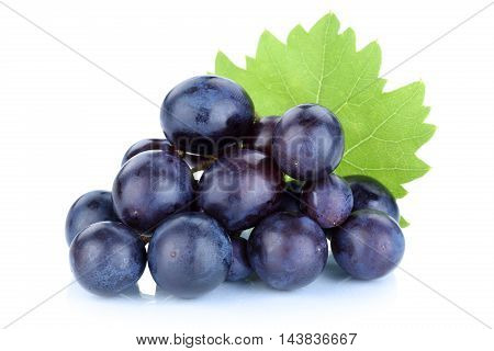 Grapes Blue Fruits Isolated On White