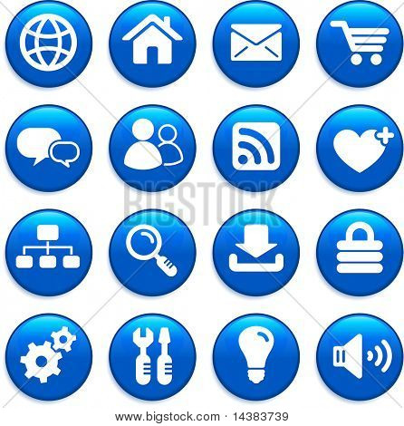 Ilustración de vector original: conjunto de iconos de diseño de internet