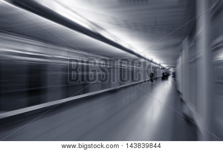 motion blurred corridor
