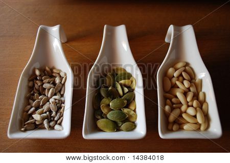 Seeds In Ceramic Containers