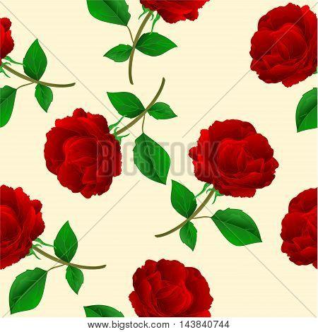 Seamless texture twig Rose Purple stem vintage vector illustration