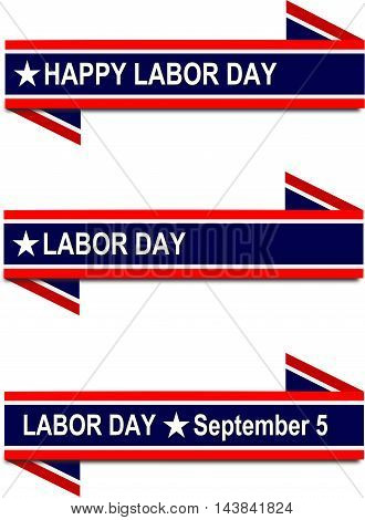 Happy Labor Day, blue flag with stars