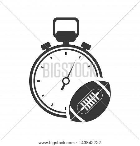 chronometer ball healthy lifestyle fitness silhouette icon. Flat and Isolated design. Vector illustration